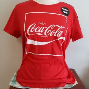 Official Coke Logo Graphic Tee w/Sequins NWOT